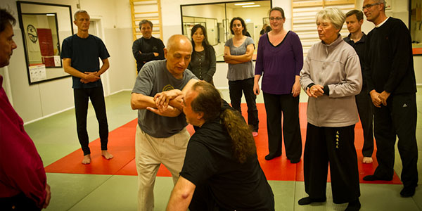 2014: Sam Tam demonstrating sinking of chi at a workshop in Copenhagen.