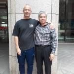 master Wu og mig